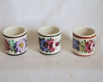 3 Small Vintage Shot Glasses Wechsler Austria Floral 952 BD
