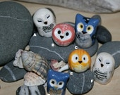 Miniature Clay Owls : Harry Potter Inspired Owlery