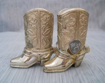 Texas Cowboy boots salt and pepper shakers - vintage, collectible, Japan