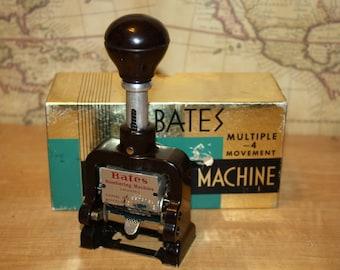 Bates Numbering Machine with Box - item #1741