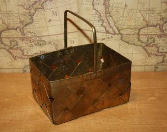 Brass Woven Basket - item #1370