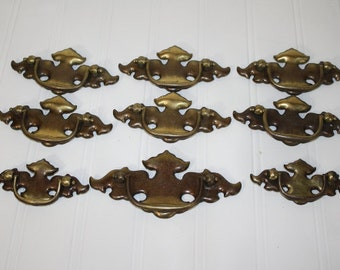 Drawer Pulls - Salvaged Metal - set of 9