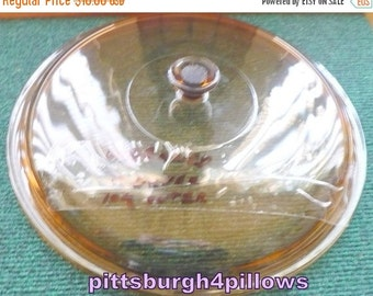 Save 10% UnBranded- Amber Glass Replacement Lid - Casserole - EUC - 10 Inch Inner Rim 101/2 Outer Rim