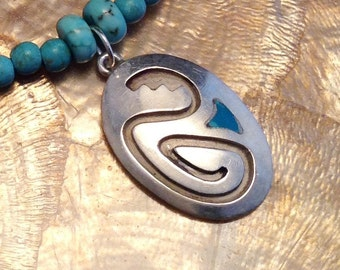 Snake Motiff Necklace in Sterling Silver