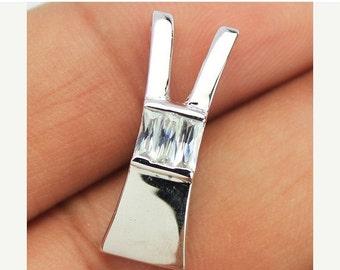 VALENTINE SALE 55% Zircon Sterling Silver Earrings 1588PD