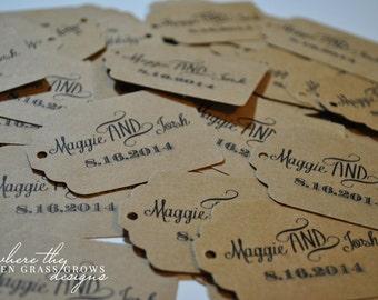 Classy Rustic Wedding Tags