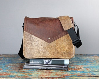 NEW - Leather Commuter Bag New Satchel  -  Book Bag Ipad Tablet Bag Travel Bag Leather