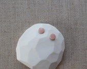 Small Dot Earrings in Peach, Ink Marble or Black