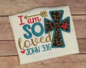 Girls Religious Saying shirt set, bible verse shirt, I am loved