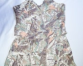 Vintage All Silk Winter Camo Camisole and Tap Pants Set Sz 2 XL Cabelas Bust 50 Inches