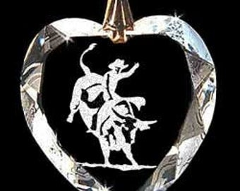 Bull Rider Rodeo Jewelry Custom Made Crystal Necklace Pendant with any Animal or Name YOU Want, Great gift 4H, FFA, Horse Lover, Rodeo, Farm