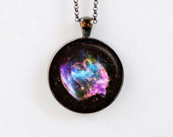 Outer Space Jewelry - Astronomy Necklace - Galaxy Star Space Pendant Necklace - Supernova Explosion
