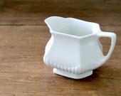 LOVELY white Adams English ironstone creamer pitcher