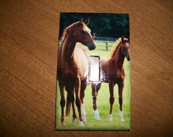 SWITCH PLATE COVER - Horses