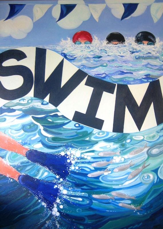 SWIM Print 12X16