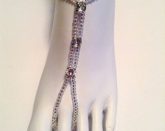 Barefoot Sandals Anklet Foot Jewelry Silver Beach Sandals