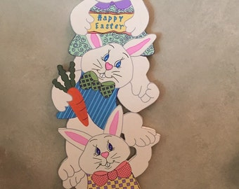 "DEBI'S DOING'S PATTERN-""Hare Raising"" Easter Wood Craft Pattern 47"" Tall"