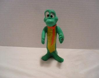 Vintage Albert Alligator 1969 Plastic Movable Toy Figurine