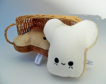 White Mousebread Plushie READY TO SHIP