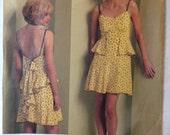 Vogue V1105 Misses Summer Dress - Designer Anna Sui - Size 4-6-8-10