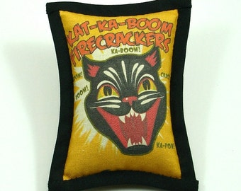 Catnip Toys, Halloween Cat Toys, Fourth of July Cat Toy, Black Cats, Firecrackers, Fangs, Superstition, Scary Cat Toys, KA-BOOM!
