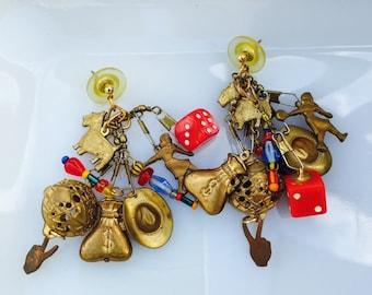 Funky Vegas nights vintage earrings
