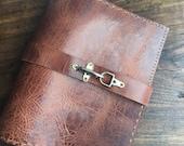 Griffith Binder / Leather 3 Ring Binders / Padholder / Leather Portfolio Padfolio / Custom Leather Binder / Leather Presentation Book /