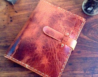 Handmade leather notebook, Composition book cover, Refillable journal, Leather notebook cover, Composition book, Leather book covers