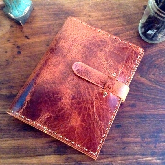 Book Cover Handmade : Handmade leather notebook composition book cover refillable