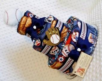 Baseball Baby Diaper Cake Shower Gift Centerpiece Boys Bear
