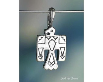 Sterling Silver Thunderbird CHARM or PENDANT Native American Solid 925