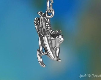 Sterling Silver Snowmobile Charm Winter Snow Vehicle 3D Solid .925
