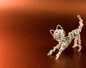 White Tiny Wire Kitty