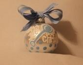 Handpainted Baby Boy 1st Christmas Ornament, Baby Boy Ornament, Baby Shower Gift, Baby Christmas Present