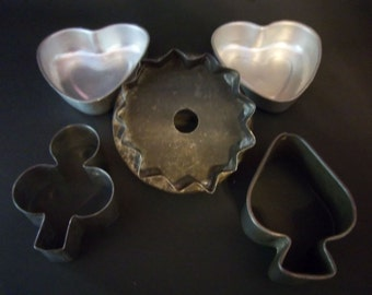 Primitive Soldered Cookie Cutters and Aluminum Pans