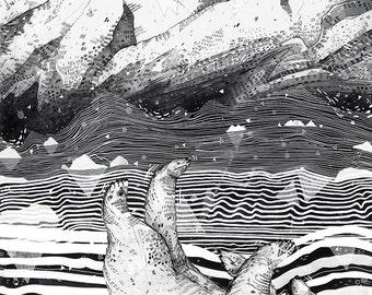 Awake & Dreaming // A3 print