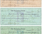 Antique Bank Checks. Cheques. 14 x 18. Digital Paper Download. Scrapbooking Supplies. Instant Download. Pattern. High Resolution.