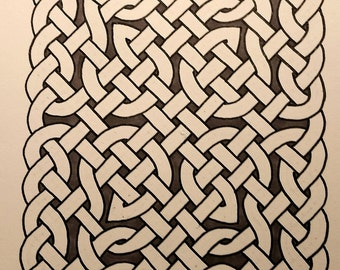 Black and white Celtic Knotwork