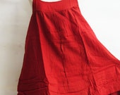 D17, Easy Going Summer Bright Orange Cotton Dress