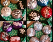 Custom Metal Flake Ornaments