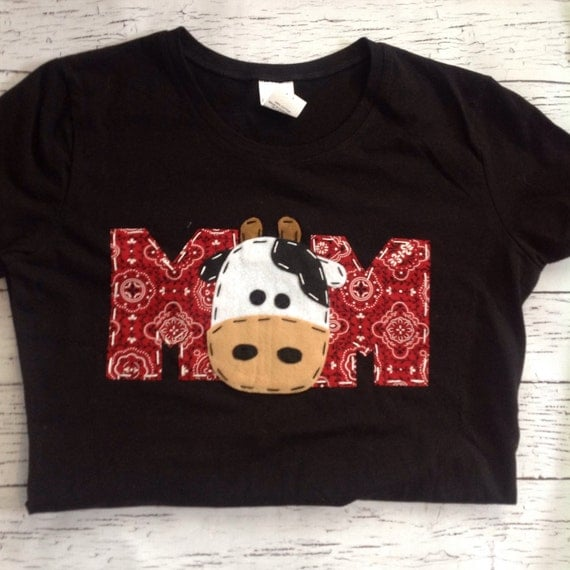 Mom Barnyard Birthday Shirt Mom Dad Two Cow 2nd T