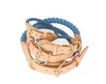 SALE, Dog Rope Collar, Pond