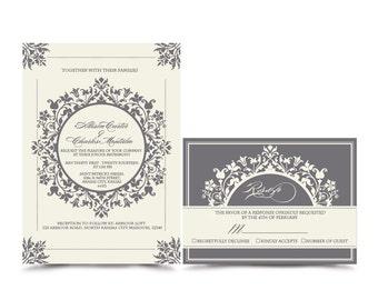The Duchess. Wedding Invitation & RSVP Sample