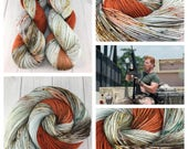 "Dyed to order- ""Abraham"", TWD, The Walking Dead Inspired, Abraham Character Colorway, Hand Dyed, SW Merino Wool, Speckled, Knitting,"