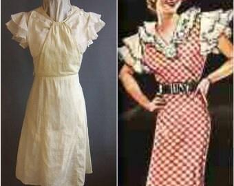1930s petite art deco dress, 1930s day dress  Letty Lynton-style, with flaws. 30s dress 1930s dress art deco dress letty lyndon dress