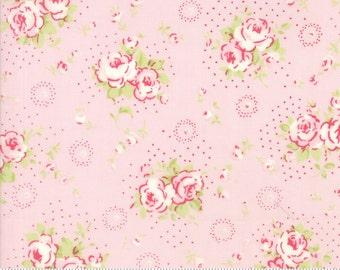 Fleurs - Petite Bouquet in Peony by Brenda Riddle for Moda Fabrics