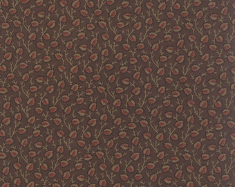 Old Cambridge Pike - Fruitlands in Brown by Barbara Brackman for Moda Fabrics