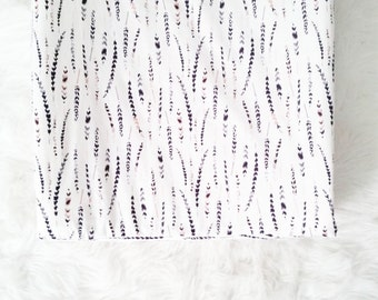 Feather Changing Pad Cover,  Contoured Changing Pad Cover, painted feathers , gender neutral nursery