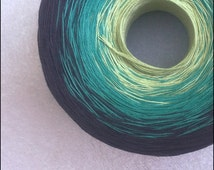 Color Change Gradient Yarn - firefly - 'Moca Cotton' Yarn - 3 colors - 540 yards - fingering weight yarn - pure cotton