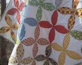 American Jane  Fray Edge Circle Quilt........Ready to Ship